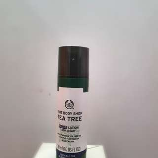 Night lotion tea tree the body shop