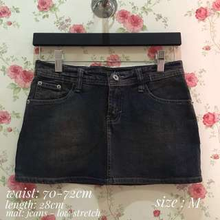 skirt mini jeans black