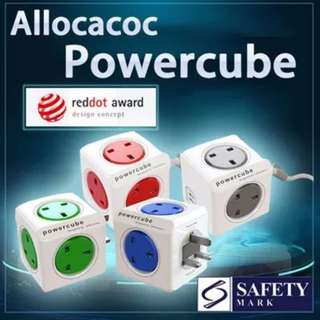 Allocacoc Powercube 4 Power Outlet (Extended USB) 3 meter cable