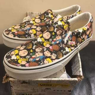 Vans Snoopy Peanuts Slip On Size US9.5 100% new Supreme Mastermind Off White Bape Nike Ultra Boost NMD