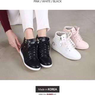 🚚 韓版 皮質增高鞋 #白色38