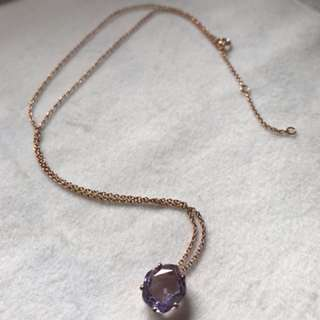 💝Natural Amethyst silver neacklace