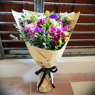 Fresh Flowers, local rustic bouquet