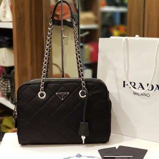 Bnew Prada 1bb903 Tessuto Quilted Shoulder Bag