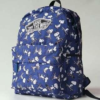 Vans Snoopy Blue Ransel Bag