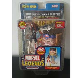 BNIB Marvel Toybiz Spider-woman Variant with Modok BAF