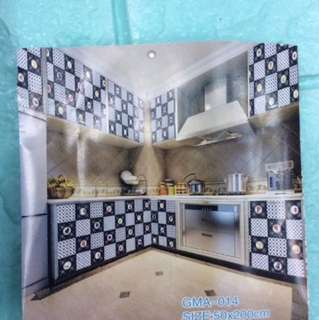 Kitchen adhesive wall paper