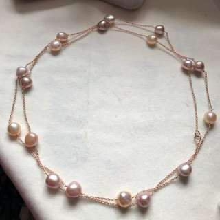 💝Natural pearl silver necklace