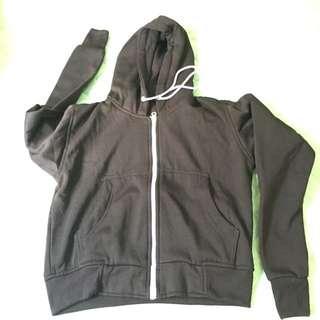 Jaket crop hoodie