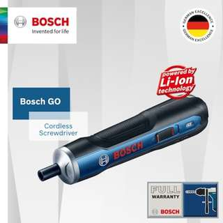 Bosch Go Cordless screwdriver w/ 33 pieces set