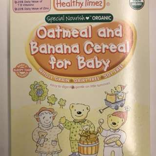 Healthy Times Banana and Oatmeal cereal