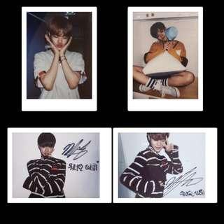 lee dae hwi wanna one signed polaroid