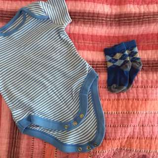 Baby Romper + Sock Mothercare