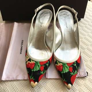 Dolce Gabbana sling back shoes @Size 37-1/2
