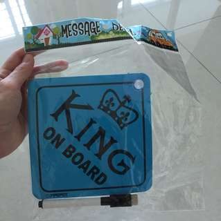 Car decal- king on board