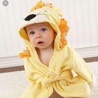 BN kids hooded towel robes