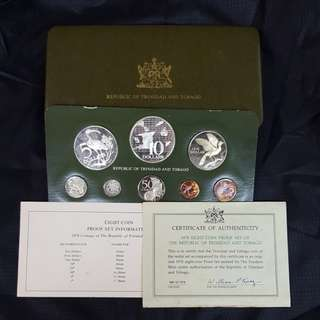 1978 Eight Coin Proof Set of The Republic of Trinidad and Tobago