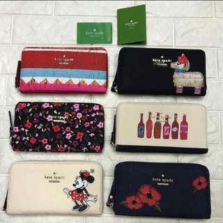 3pcs Assorted kate spade wallet