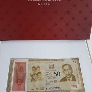 SG50 Commemorative Notes and folders (2 pcs)