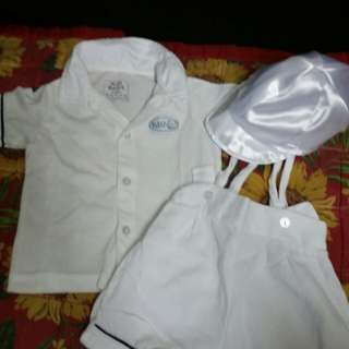 Baptismal outfit with cap