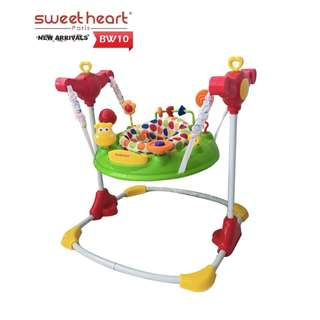 Sweet Heart Paris Baby Jumpers BW10(Green) with Seat Element Rotates 360 Degrees