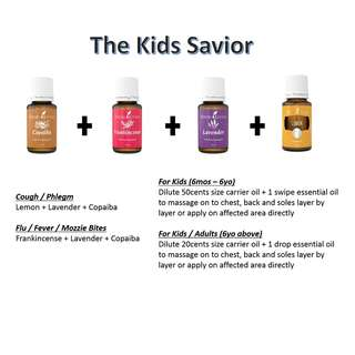 [FREE 10ML CARRIER OIL] YOUNG LIVING KIDS SAVIOR ESSENTIAL OIL COMBO