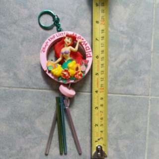 迪士尼立體美人魚,手工極精緻,可作風玲及匙扣,購至東京迪士尼