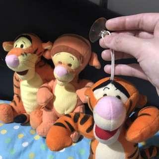 tigger stuffed animal toy set of three