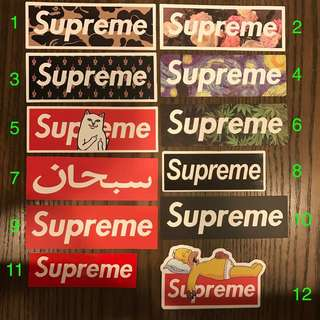 [INSTOCK] Supreme BOGO Stickers