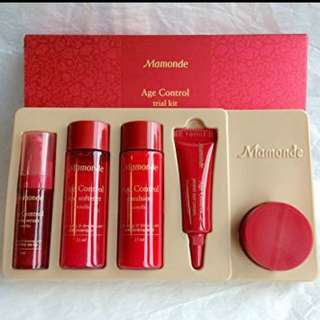 😍$10.80 CRAZY SALE😍👶FEEL THE POWER OF RED CAMELLIA TO AGE PROOF YOUR SKIN NOW!!!❤️Mamonde Age Control 5 Piece Trial Kit