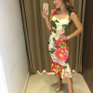 casual floral bodycon dress