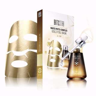 [INSTOCKS] BRTC White Phyto Complex Gold Foil 2 STEP Mask [5 sheets]