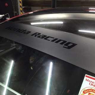 Honda racing sunshade!