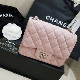 Chanel mini flap luxury pinkish