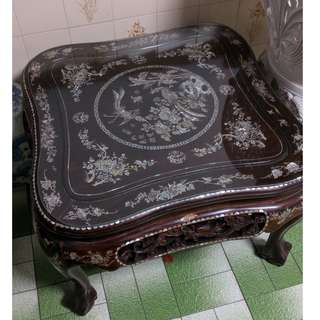 Antique Chinese Tea table with 4 chairs