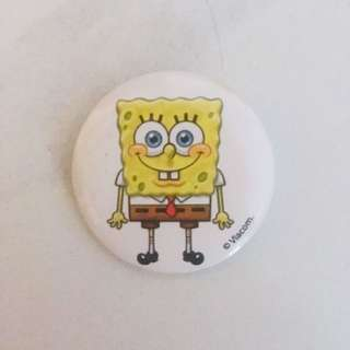 Spongebob button badge pin