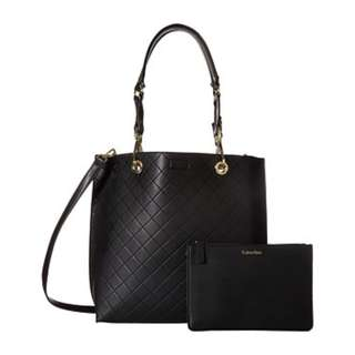 Calvin Klein CK Sonoma Quilted Reversible tote with Sling