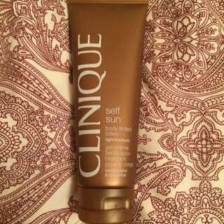 Clinique Self tanning lotion