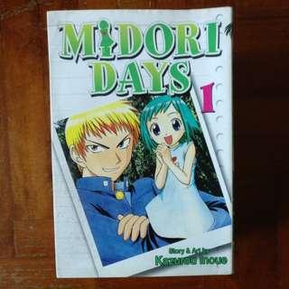 Midori Days Vol. 1-3, 5-8.
