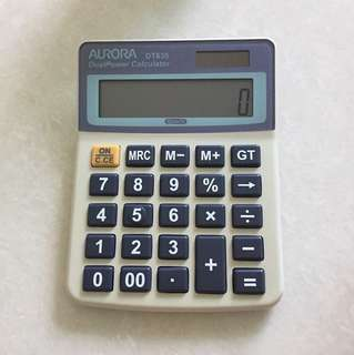 Calculator -aurora dual power DT635
