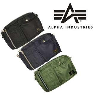 日本 Alpha Industries 防潑水尼龍布 多功能 小斜咩袋