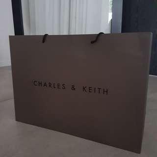Charles n Keith Paper Bag