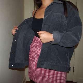 Vintage Jeans West Corduroy Black Jacket