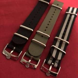 ROLEX & TUDOR Buckle 20mm NATO Strap 錶帶 鋼扣 116610 LN LV 16600 16610 16710 1601 1600 5512 5513 1680 1675 1665 16750 omega AP 尼龍軍用錶帶