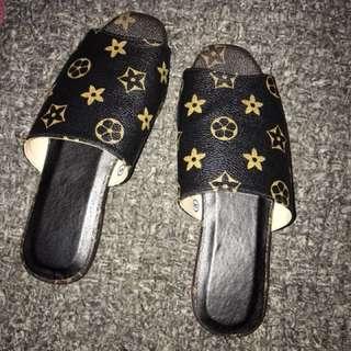 Lv inspired sandals