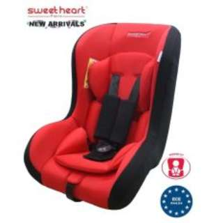 Sweet Heart Paris CS209 Safety Car Seat (Red) with Washable Covers
