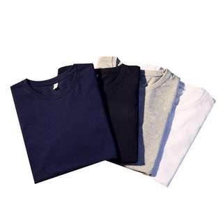 Men 100%  4 pcs Set Cotton Long Sleeves Tee Shirt L/XL/XXL/3XL