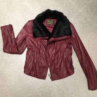 Blue Hero LambSkin Leather Jacket (XS/S)