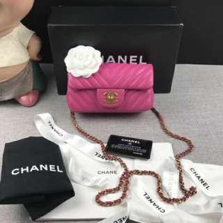 Chanel Lambskin Chevron Mini Flap
