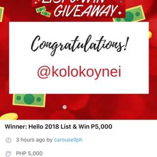 Thank you so much Carousell!!! 100% Legit!!!